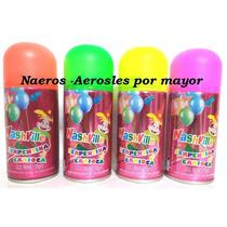 Cotillon Serpentina En Aerosol Pack X 12 Unidades