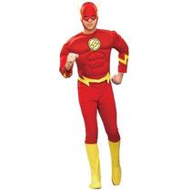 Disfraz Flash Hombre Super Heroe Adulto Traje De Lujo