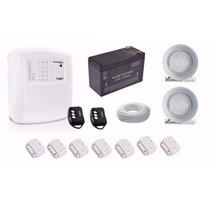 Kit Alarme Ecp Max4 Sem Fio + Bateria 7a + Sensor Magnético