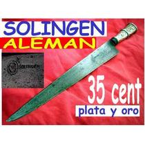 Hoy Cuchillo Antiguo Solingen Plata Oro Plateria Criolla