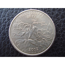 U. S. A. - Mississipi, Moneda De 25 Centavos (cuarto), 2002