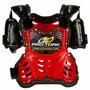 Colete Motocross Infantil Pro Tork Criança Vermelho