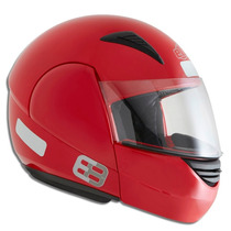 Capacete Moto Ebf Modelo E08 Solid 58 Vermelho Articulado