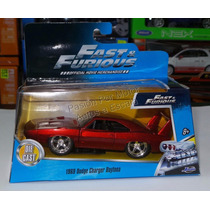 1:32 Dodge Charger Daytona 1969 Rapido Y Furioso Jada C Caja