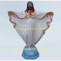 Escultura Jesus Cristo Redentor Oxala + Caboclo Pena Branca