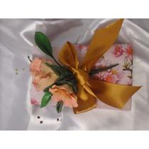 Caja De Regalo Souvenir Con Flores De Porcelana Fria
