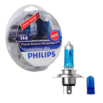 Kit Lâmpada Philips Crystal Vision Ultra H4 55w-12v 4300