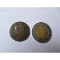 Moneda Antigua 2 Centimos 1861 Italia