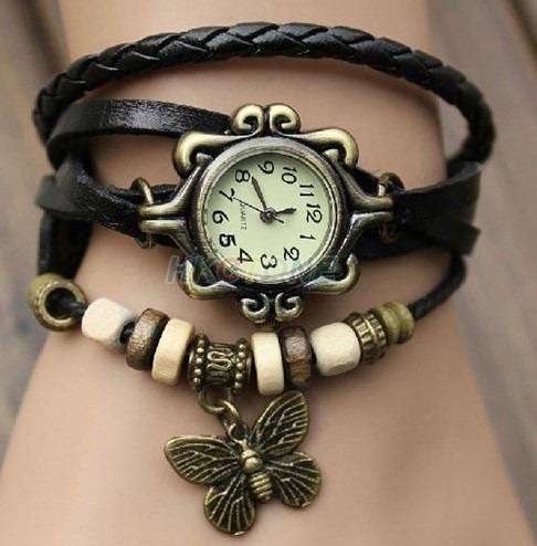 8f872d235c5 Relógio Angelina Jolie Vintage Feminino Couro Luxo Importado - R  79 ...