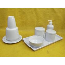 Kit Higiene Porcelana Bebe Nascimento Maternidade Potes Novo