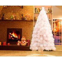 Arvore De Natal Pinheiro Luxo Branca 2,10m C/566 Galhos