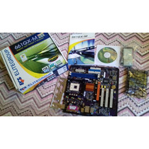 Placa Ecs 661gx-m P/ Pentium 4 Socket 478 - Nova Na Caixa!