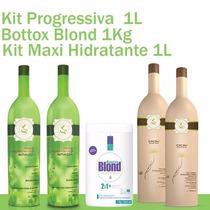 1 Progressiva Cacau, 1 Kit Maxi Hidratante E 1 Bottox Blond