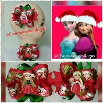Lazos De Navidad Frozen Y La Princesa Sofia