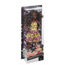 Boneca Barbie Fashionista Fancy In Flowers 2016 Negra Bqt