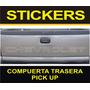 Calcomanía Compuerta Chevrolet + Sticker De Obsequio