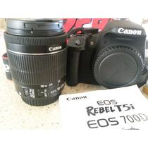 Remato Cámara Canon T5i 700d Con Objetivo 18-55mm Nueva