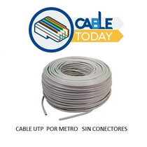 Cable Utp Cat 5e Por Metro , Internet ,cctv