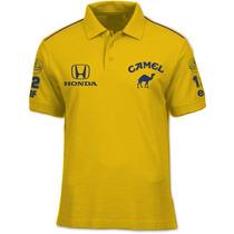 Camisa Polo Fórmula Retrô - Lotus Camel 1987 - Formula 1