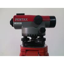 Nivel Automático Pentax Ap281, Trípode, Mira Y Certificado
