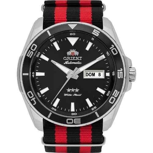 47fc9721c2c Relógio Orient Masculino Automático Prata Vermelho 469ss064 - R  398 ...