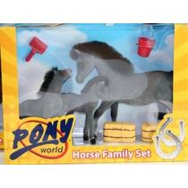 Juguetes Caballos Animales - Caballos Pony World Family Set