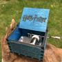 Caixa de Musica Harry Potter Cor (Azul)