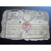 Raridade - Antiga Cédula De 2.400 Rs. De Portugal P/.coleção