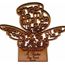 Paquete De Angelitos O Cruces Con Oración Mdf