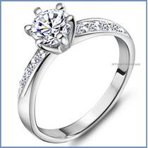 Anillo De Compromiso Diamante Natural .30ct Oro 10k -50% 091