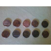 Lote 8 Monedas De 1 Centavo De Dolar. Varios Años