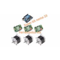 Kit Cnc Alto Rendimiento 3 Amperes Nema 23, Cnc Plasma 3d
