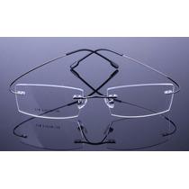 Armação Grafite Oculos Grau Metal Titanium Sem Aro - 575