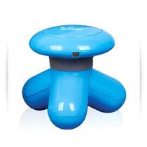 Mini Massageador Portátil De Mão Usb Pilha Tech Line Azul
