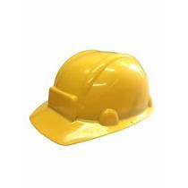 1 Sombrero Constructor Amarillo Fiesta Infantil Bob Plastico