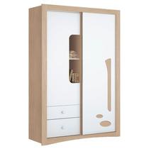 Guarda-roupa Favo De Mel Porta Deslizante Henn Fendi/branco