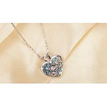 Collar Con Cristales Swarovski Elements Corazón-joyas Mujer