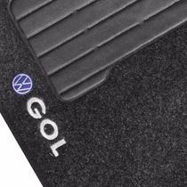 Tapete Automotivo Carpete Carro Gol G6 Volks Bordado Grafite