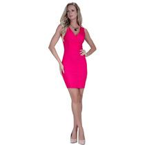 Vestido Pink Modelo Tubinho Social Principessa Elisangela