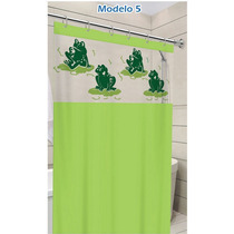 Cortina Para Banheiro Box 1,40m X 2,00m Tecido Pvc C/ Gacho