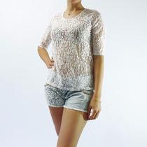 Blusa Modelo Renda Cor Branca - Tamanho M - Novo