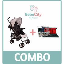 Combo Coche Paraguas Acero Dreams + Organizador Bebecity