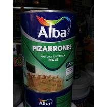 Pintura Alba Para Pizarron Negro Mate X 1lt + Lija Oferta
