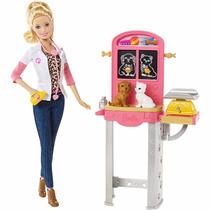 Boneca Barbie Profissões - Conjunto Veterinária Mattel