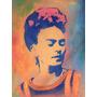 Arte México Pintura Original Retrato Frida Khalo Color