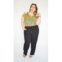Pantalona Plus Size Viscolycra - Do 40 Ao 52