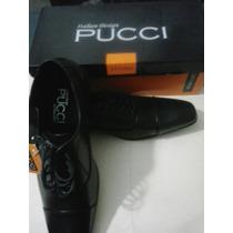 Elegantes Zapatos Pucci De Caballero 42 Negros Y Marrones