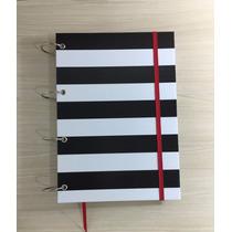 Caderno Argolado G Listras P&b - 10 Matérias