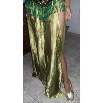 Roupa Dança Do Ventre ( Odalisca ) Arabe Verde Acessórios