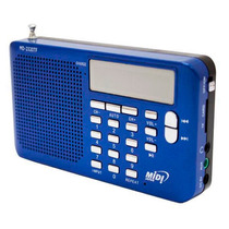 Radio Portatil Midi Japan Md-2320tf Azul Entrada Microsd